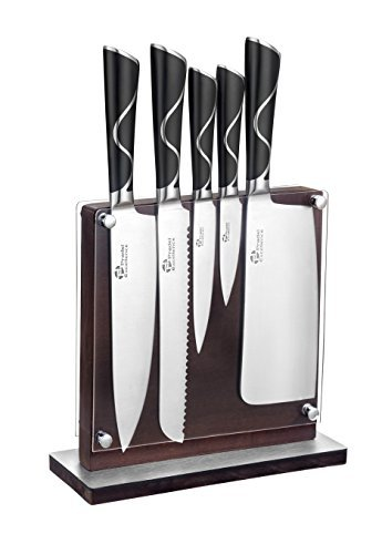 Bloc De 5 Couteaux Bois 37,5 X 26 X 11,5 Cm