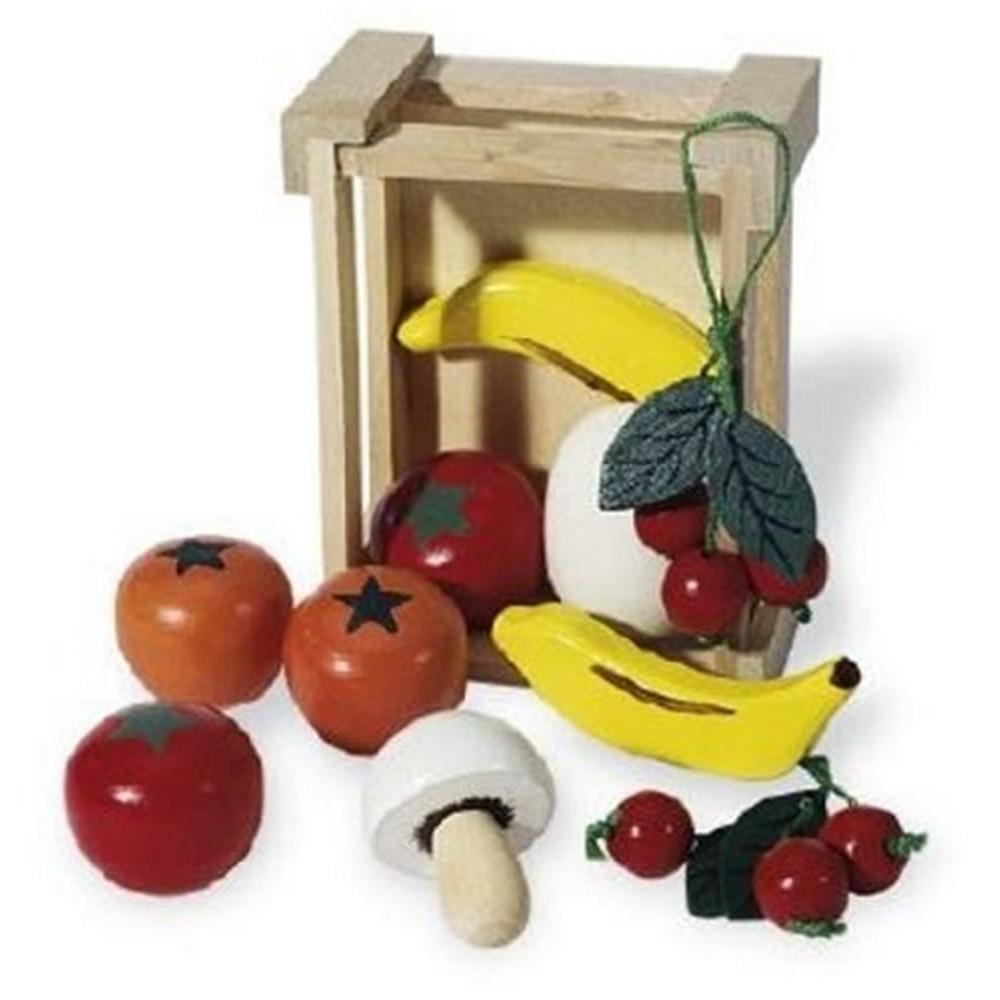 pinolino cagette avec des fruits et legumes en bois ebay. Black Bedroom Furniture Sets. Home Design Ideas