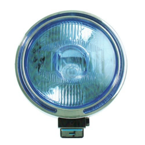 PHARE LONGUE PORTEE BLEU H3/55 W. Diam. 16 cm 12 Volts CHROME