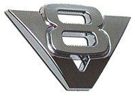 Logo Chrome V8 Autocollant Petit Modèle