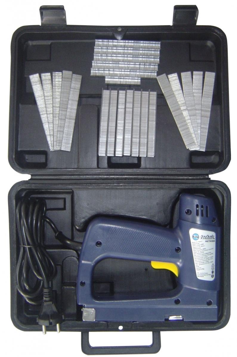 Agrafeuse électrique - Elemtechnic - En coffret - Bleu marine pour 26€