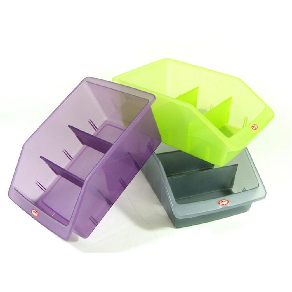 Bac à frigo - avec séparateur - (lot de 3) - Multicouleur pour 9€