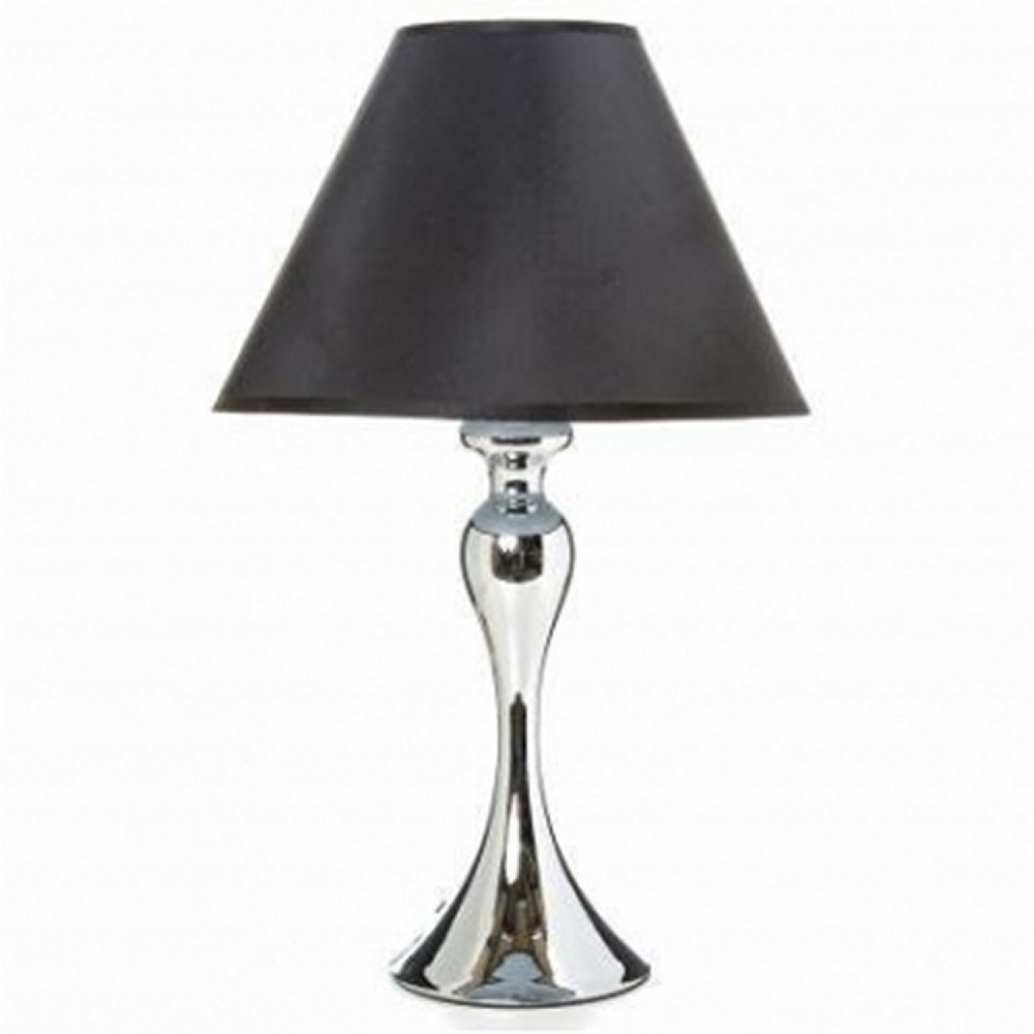 lampe de chevet lampe de chevet pied mtal argent noir with. Black Bedroom Furniture Sets. Home Design Ideas