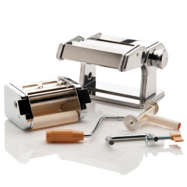 Machine pate manuelle manivelle spaghettis tagliatelles raviolis lasagnes - Machine a pate manuelle ...
