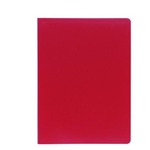 Opaque porte vues avec pochettes grain es a4 200 vues rouge for Porte vues avec couverture personnalisable