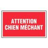 Panneau - Attention Chien Mechant - 330x200 Mm Rigide