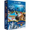 L'incroyable Histoire De Winter Le Dauphin 3d + Animaux Et Cie En 3d + Happy Feet 2 3d [blu-ray 3d]