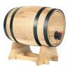 Tonneau à vin - Distributeur de vin - 5.5 Litres - Avec robinet et support