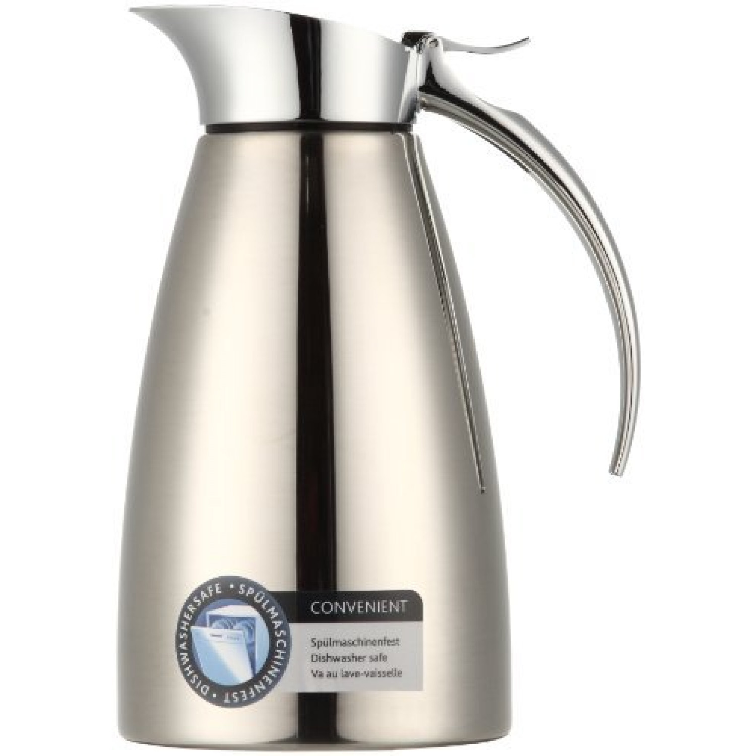 502488 Eleganza Pichet Isotherme Easy Open Inox 0.6 L