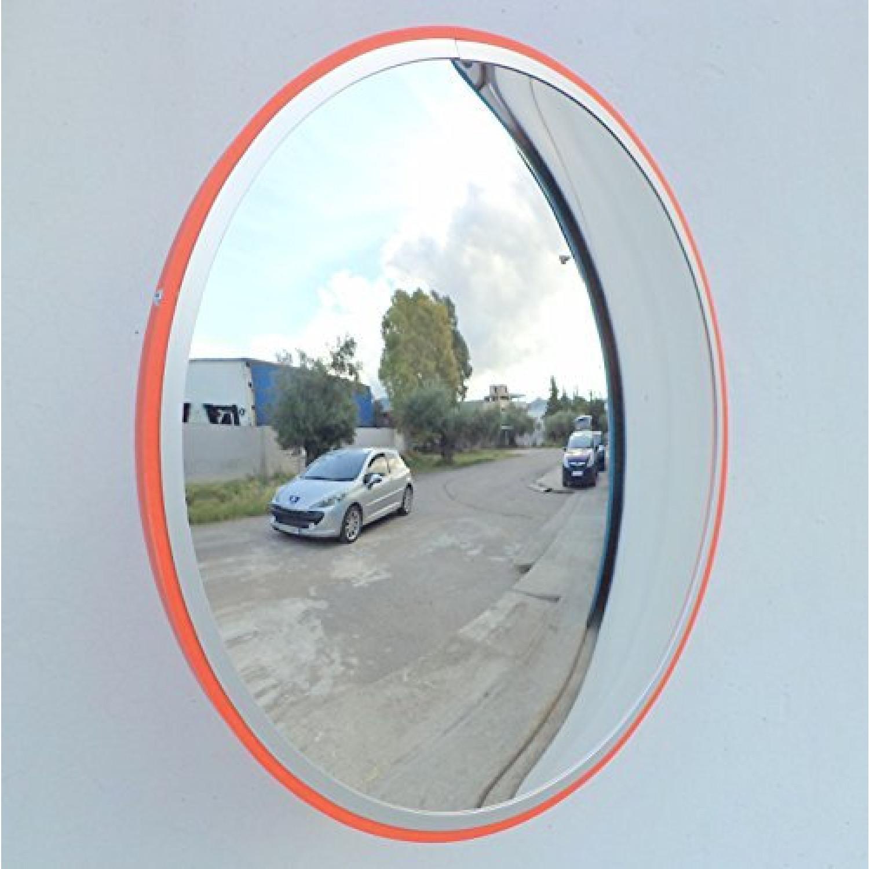 Jcm-45i Miroir Convexe De La Circulation, Incassable, Diamètre 45cm, Pour La Sécurité Routière Et De La Sécurité Du Magasin Avec Support De