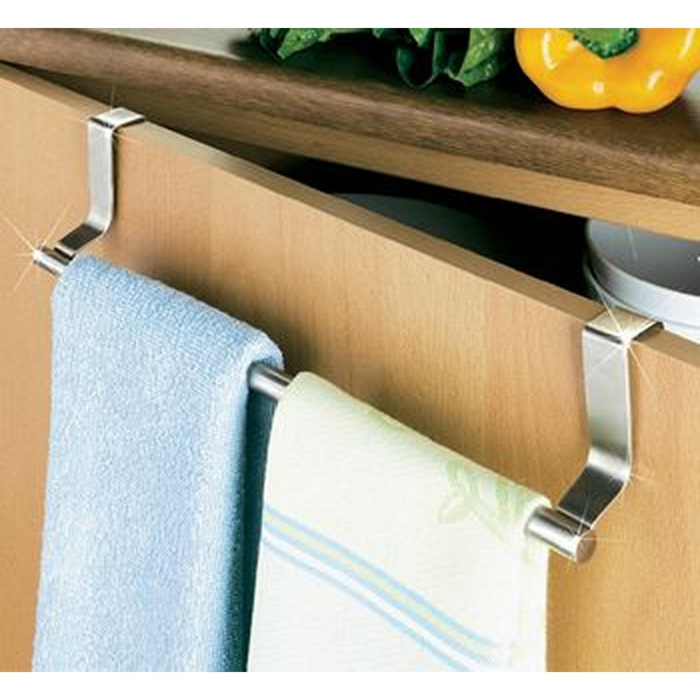 Porte serviette - Wenko - Pour tiroir ou porte de placard - Inox