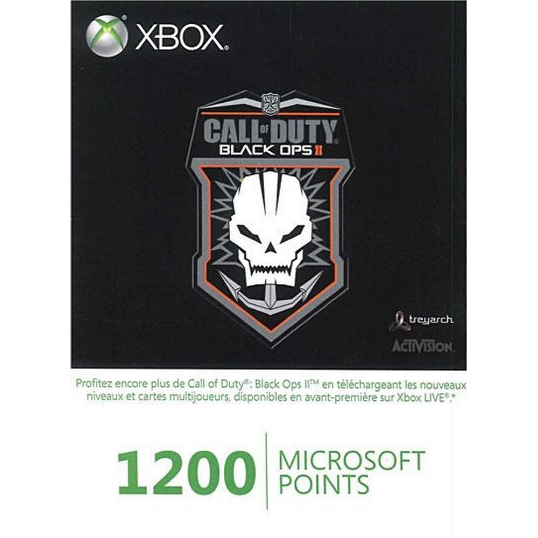 Xbox 360 - Carte Xbox Live 1200 Pts Cod Bo 2