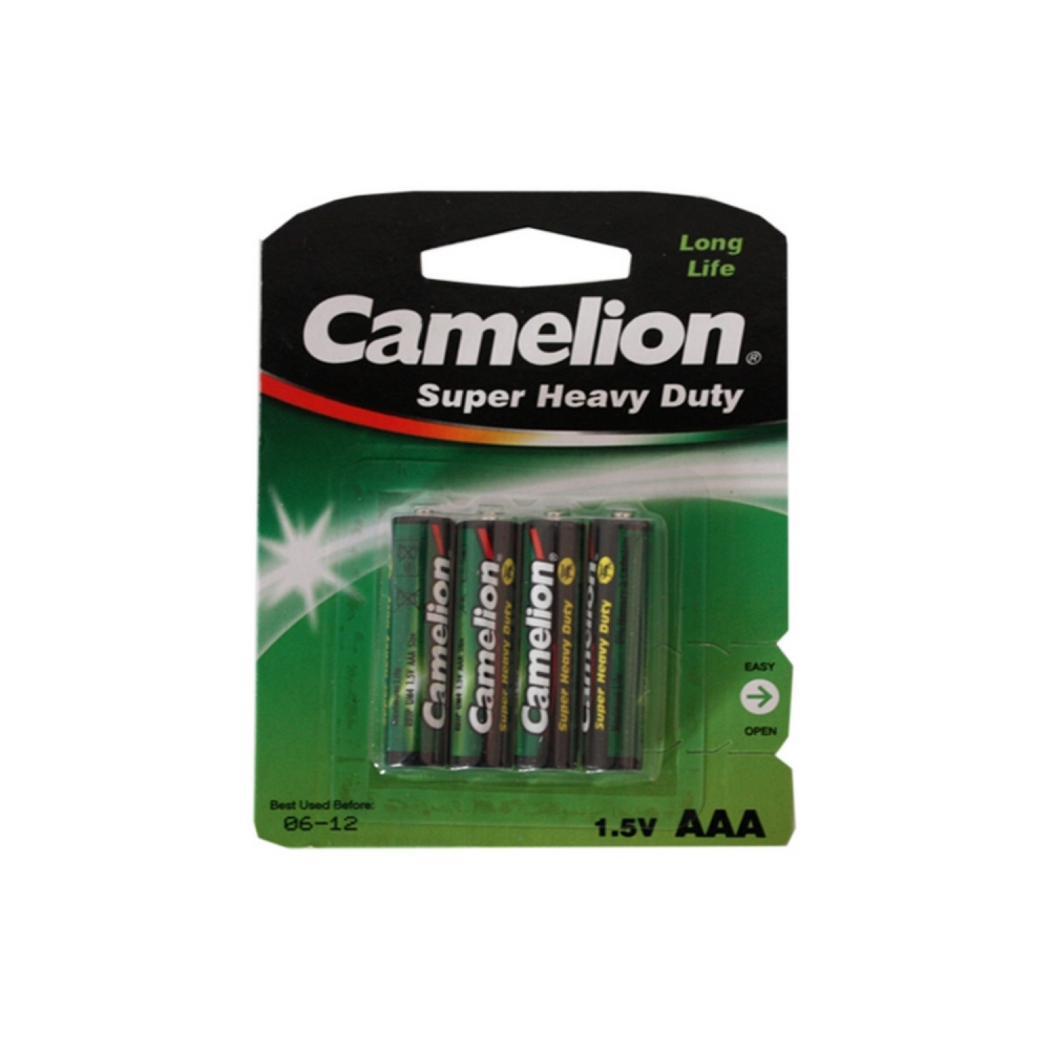 Pack de 4 piles Camelion R03 Micro AAA