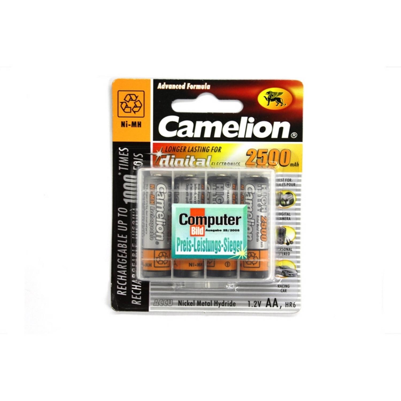 Pack de 4 Accu Camelion AA Mignon 2500mAH