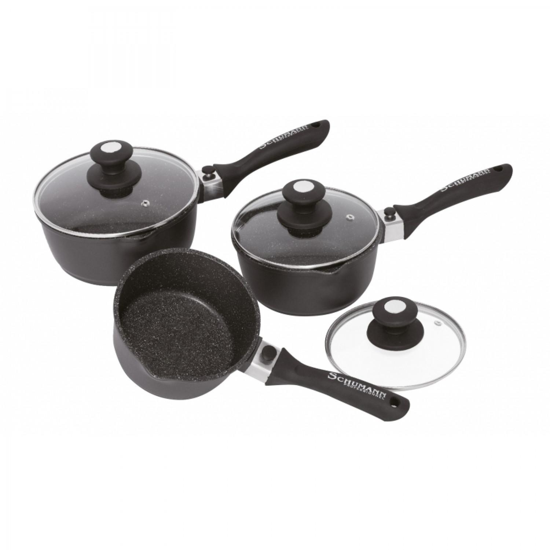 Casserole - Set de 3 casseroles 16/18/20cm - Manche amovible - Pierre