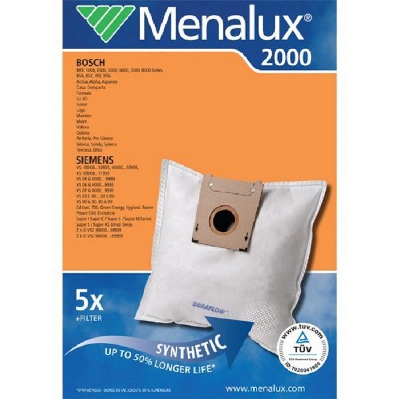 Lot de 5 Sacs Aspirateur 2000 1 Micro Filtre Inclus (Import Allemagne)