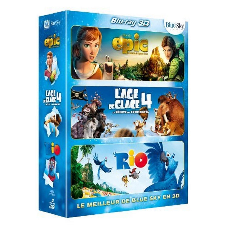 Meilleur De La 3d Blue Sky   Epic + L'age De Glace 4 + Rio [blu-ray 3d]