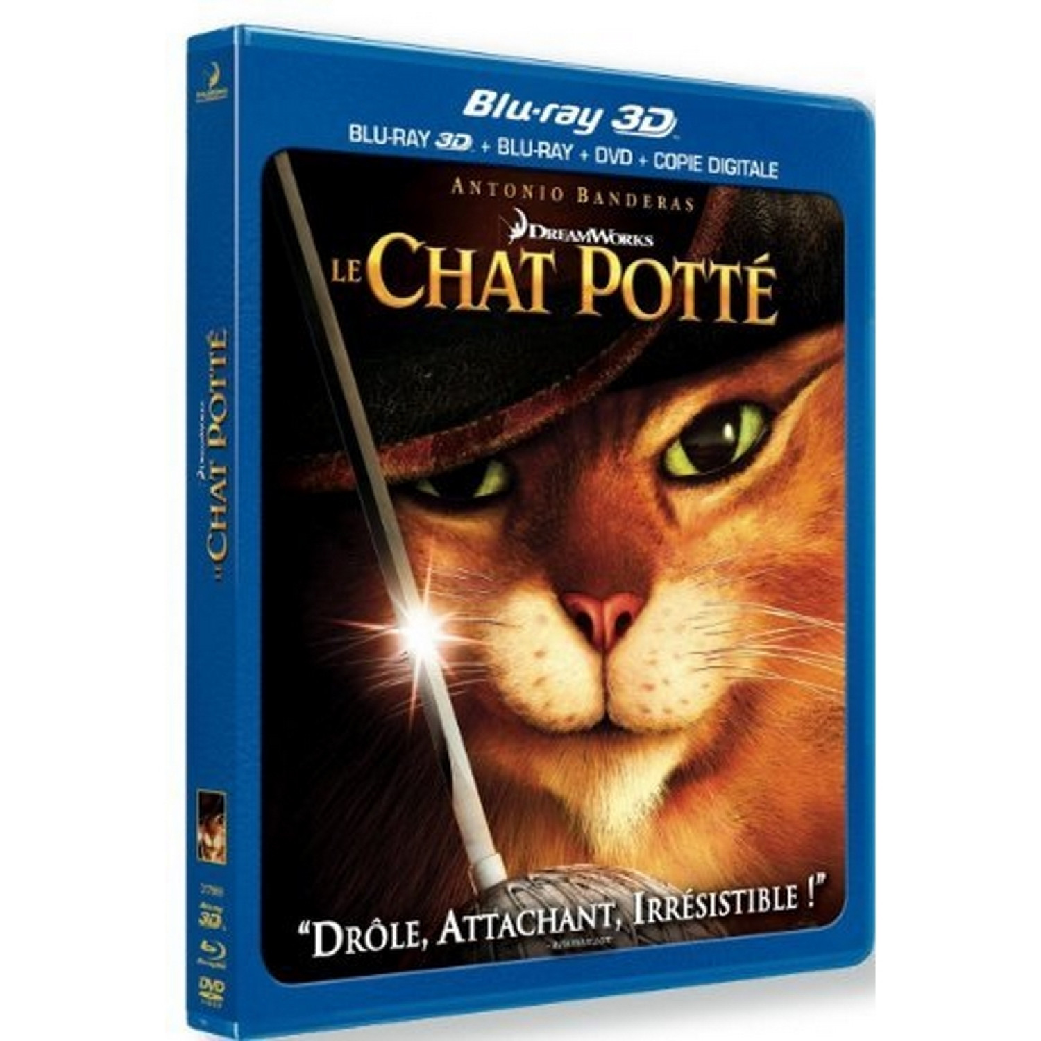 Le Chat Potte - Combo Blu-ray 3d Active + Blu-ray 2d + Dvd + Copie Digitale