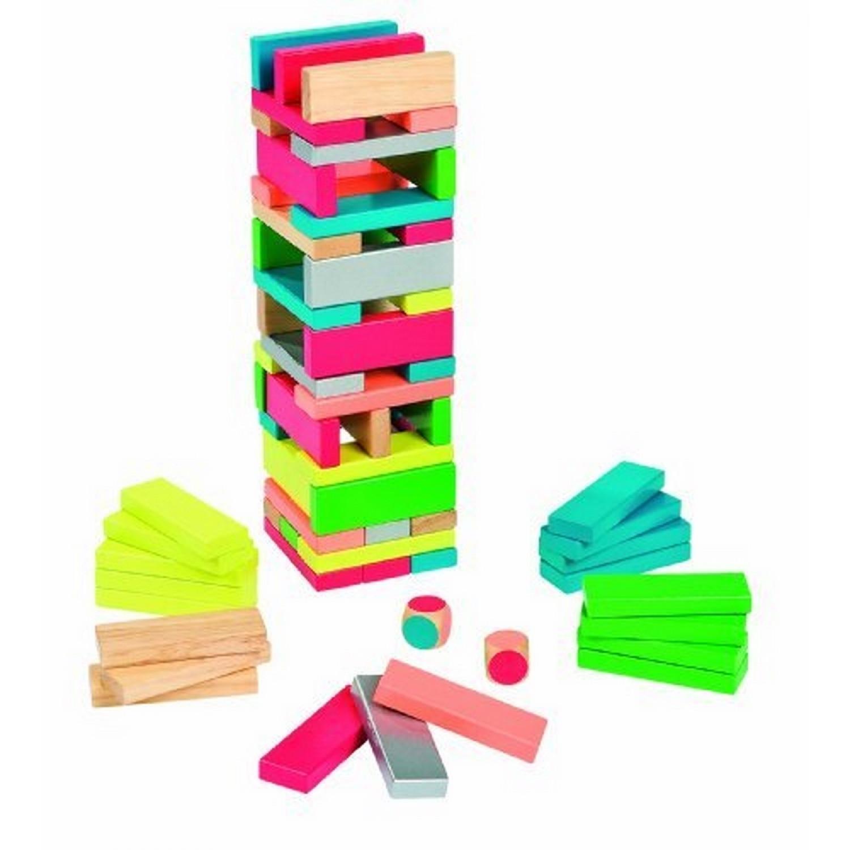 Jouet en bois Jeu de Société Equilibloc color