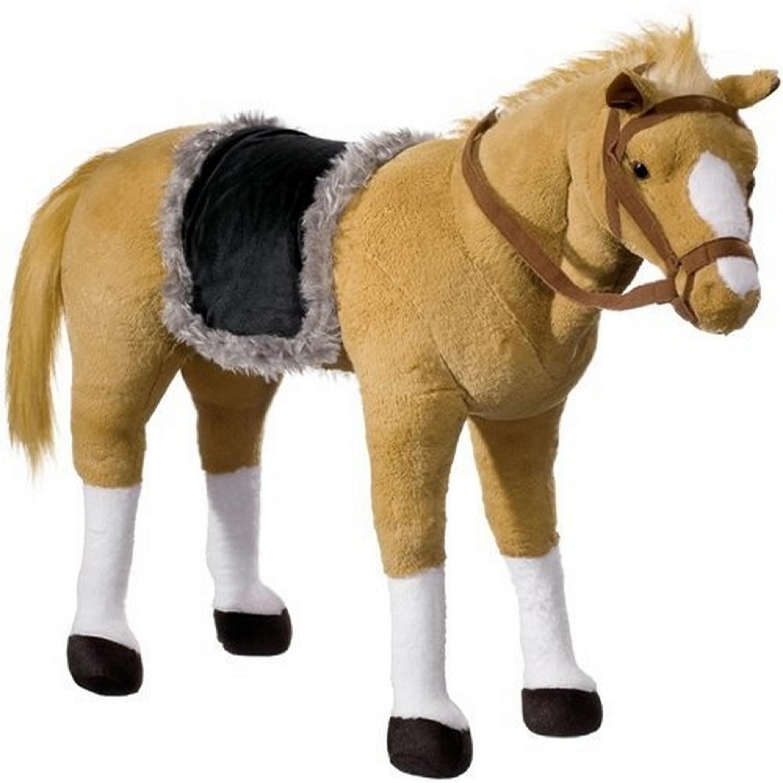 Porteur peluche cheval Charge maximale 100 kg puce musicale intégrée hennissement et galop