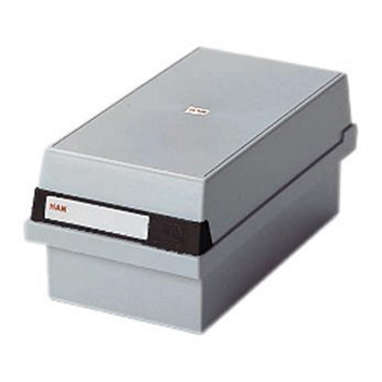 Boîte à fiches pour env. 1300 fiches A7 orientation paysage 133 x 121 x 360 mm (Gris clair)