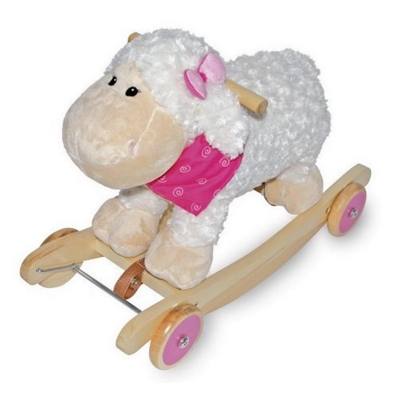 Mouton à bascule en peluche