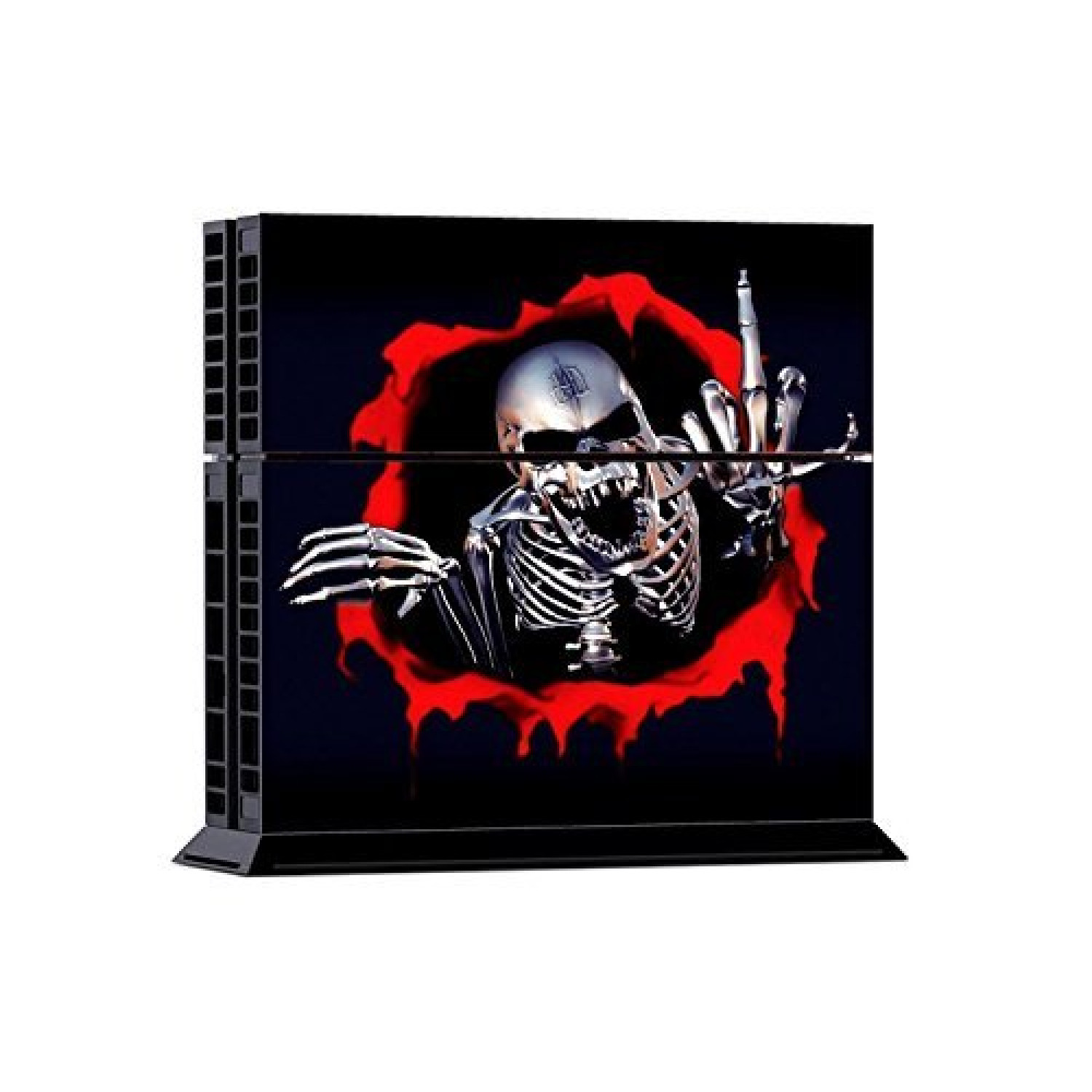 Playstation 4 Skin Sticker Pour La Console + Les 2 Controleurs - Skeleton