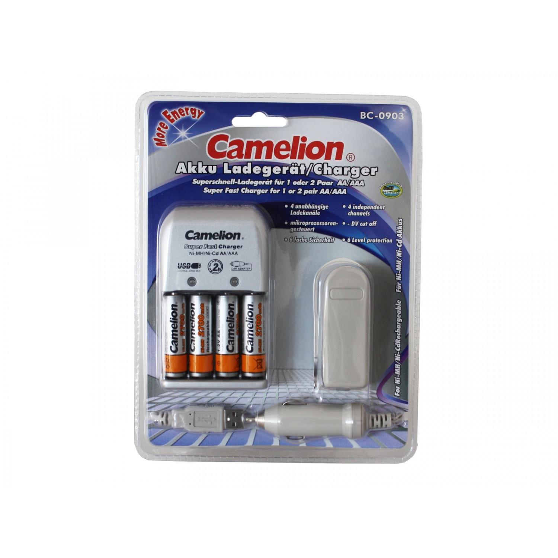 Camelion (BC-0902) Chargeur universel + 4x piles AA 2700 + Autoset/USB