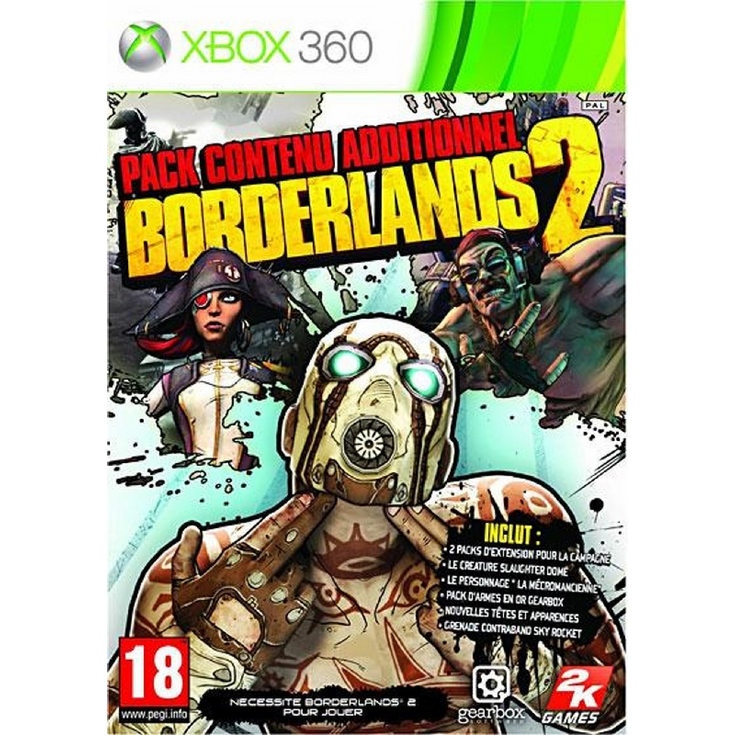 Xbox 360 - Borderlands 2 Addon X360 New Ref