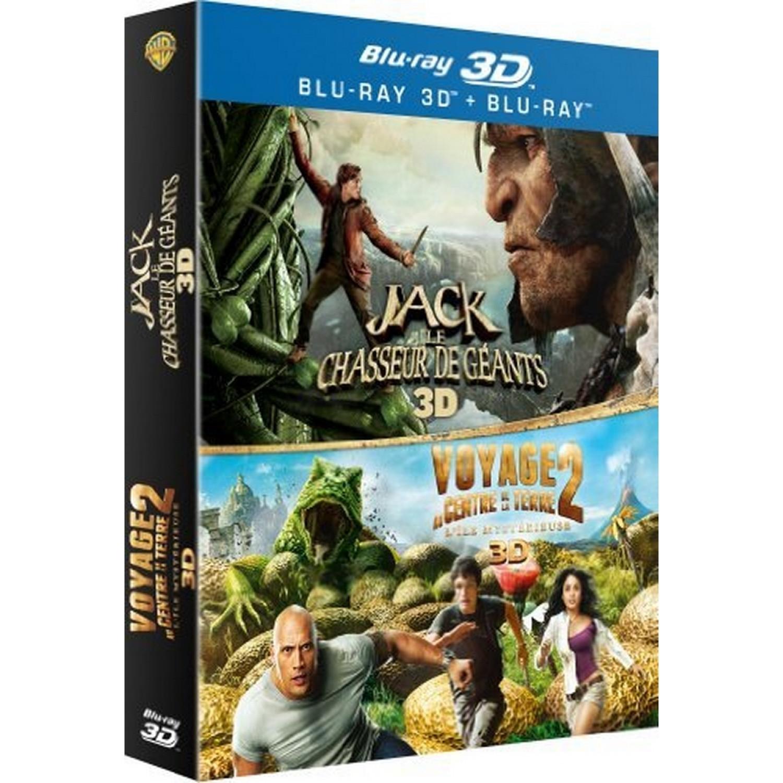 Jack Et Le Chasseur De Geants 3d + Voyage Au Centre De La Terre 2. L'ile Mysterieuse 3d [blu-ray 3d]