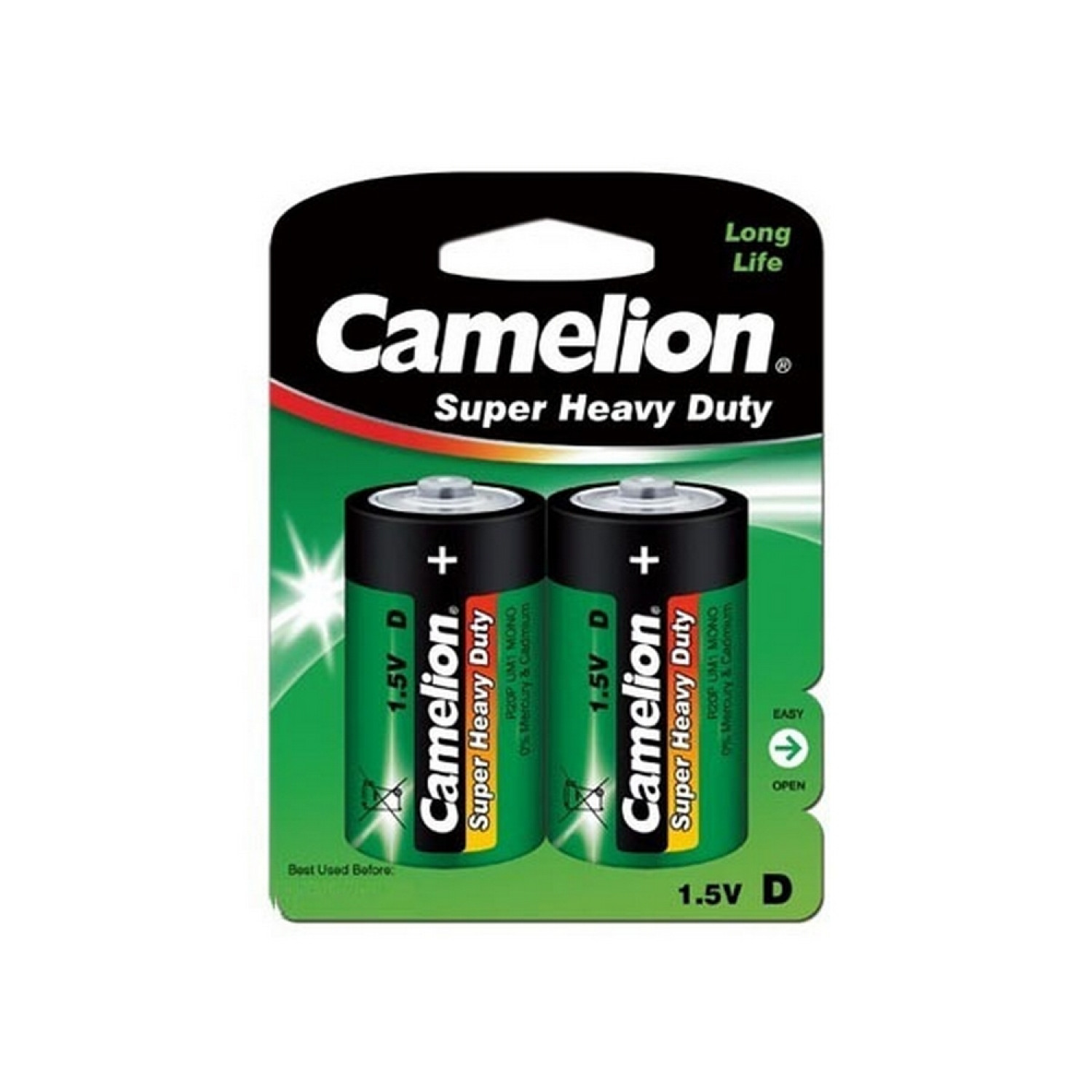 Pack de 2 piles Camelion Super Heavy Duty R20/D
