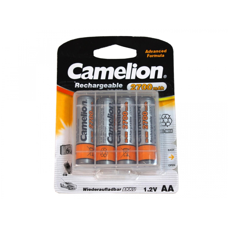 Pack de 4 accus Camelion AA Mignon 2700mAH + Boitier plastique