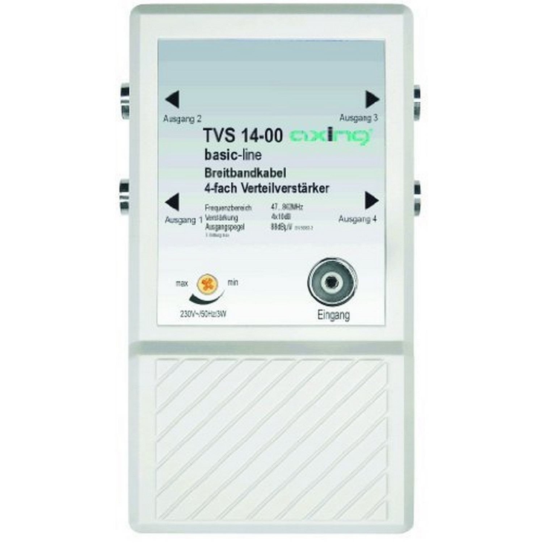 Amplificateur-répartiteur 4 postes pour petit réseau large bande ou terrestre