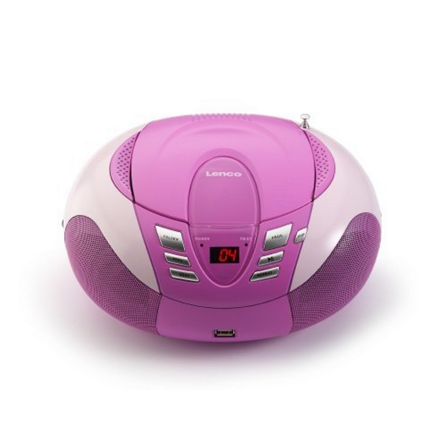 SCD-37 Radio AM/FM Portable avec Lecteur CD/mp3/wma Port USB Rose