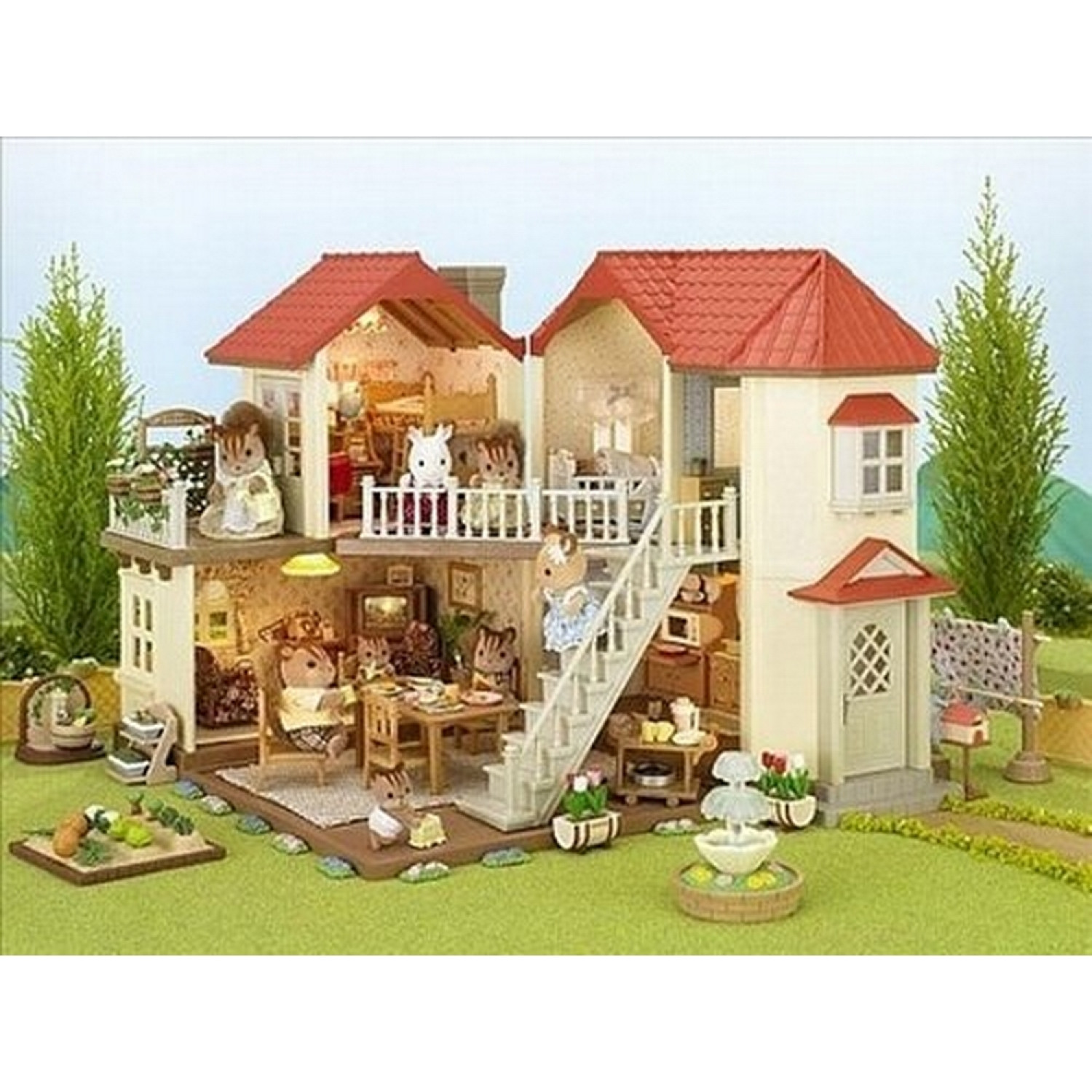 Sylvanian families grande maison tradition clair e for Maison tradition