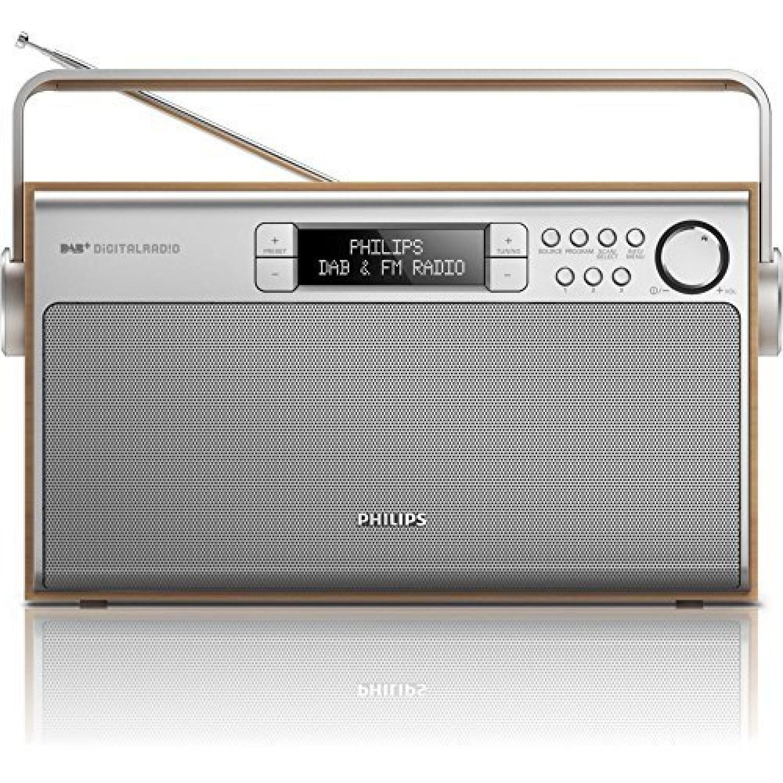 Radio portable Argent. Marron