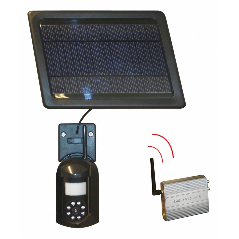 Caméra de surveillance - Sans fil - Solaire - Noir