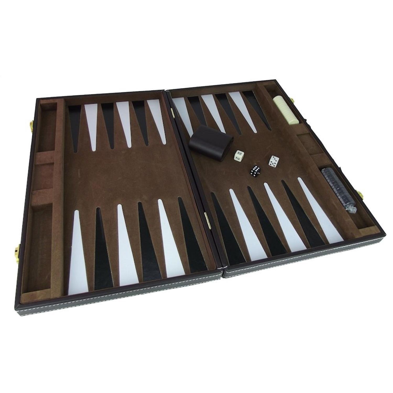 Coffret backgammon - Intérieur velours