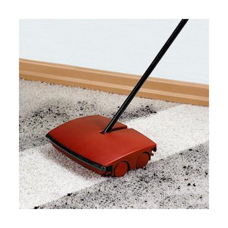balai m canique ramasse miettes manche en acier rouge. Black Bedroom Furniture Sets. Home Design Ideas