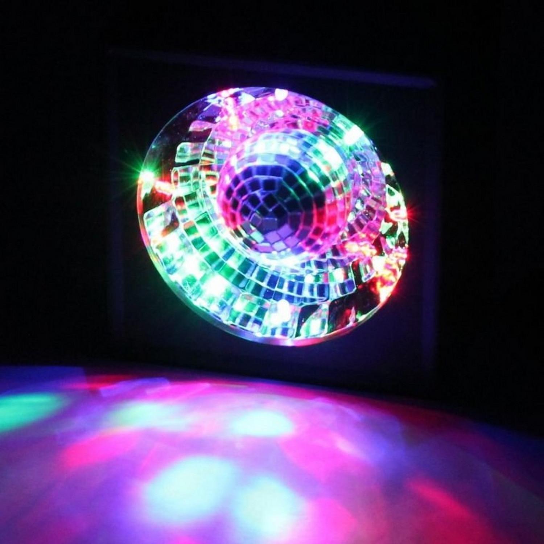 Boule à facettes - Rotative - Avec miroir et LED
