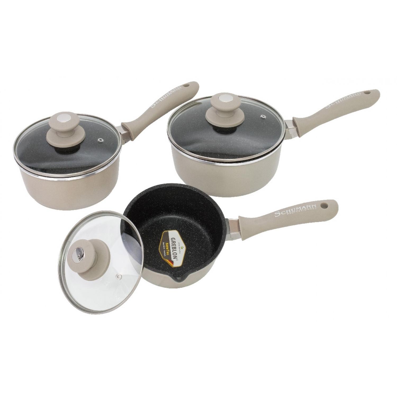 Casseroles - 16/18/20cm - Avec couvercles - Aluminium