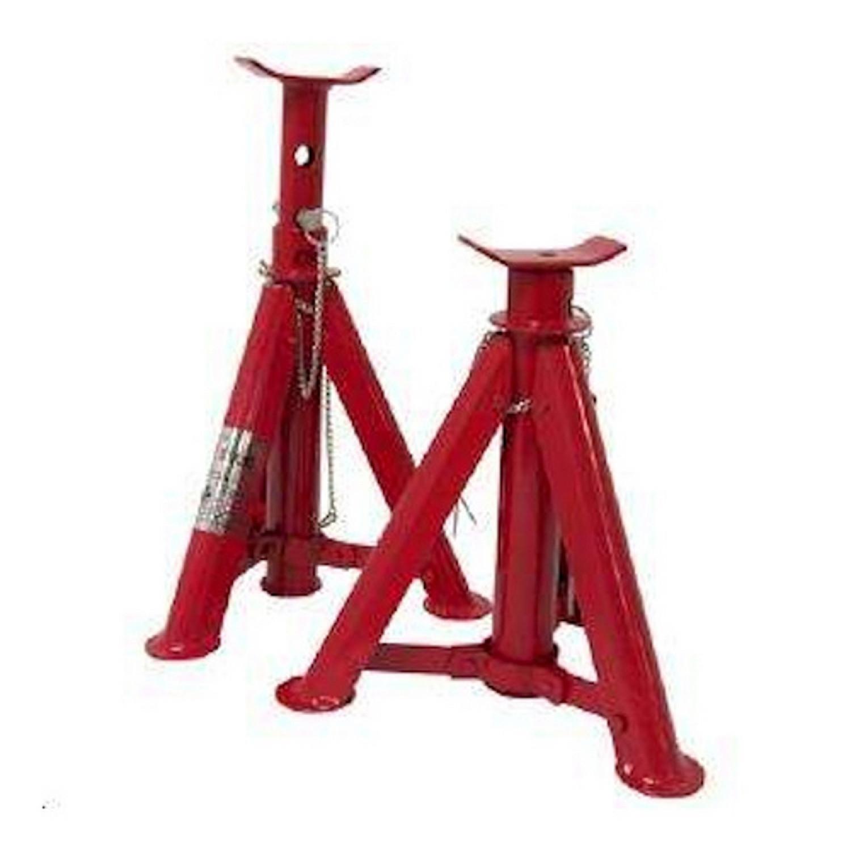 Chandelles - Support auto - Outil de garage - Rouge - 2 pièces