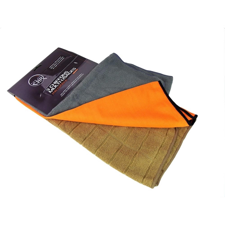 Set de 3 chiffons - Microfibre - Polyester