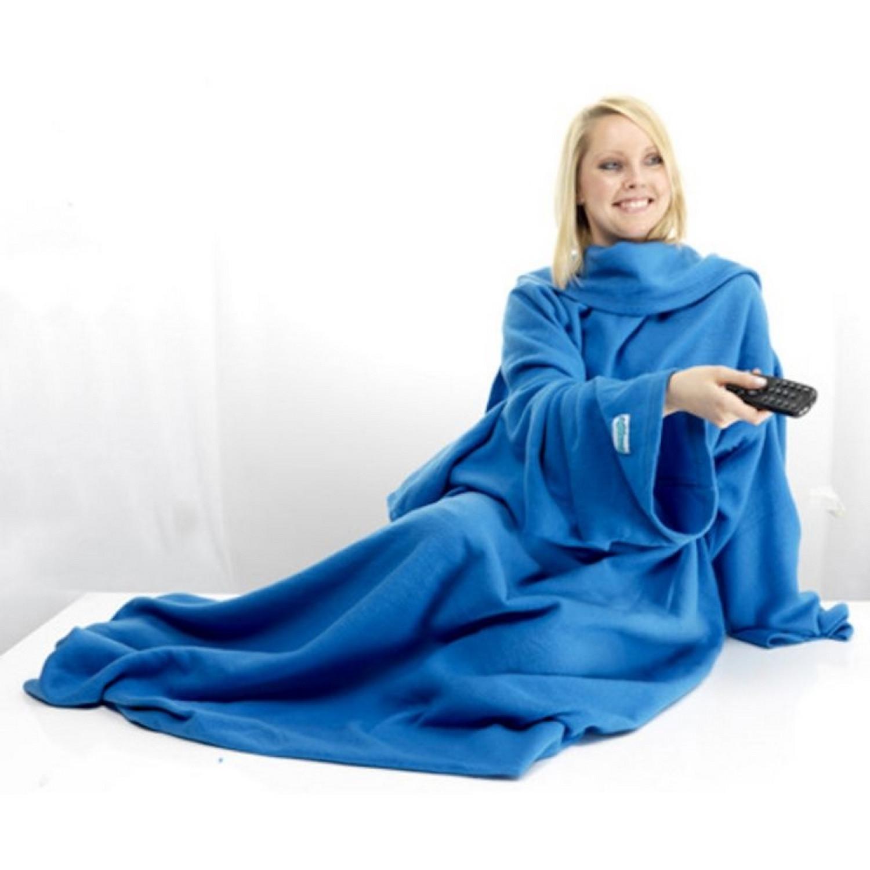 Plaid - Polaire avec manches - Bleu