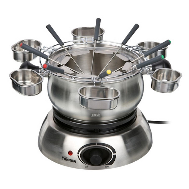 Fondue Electrique - Full INOX - Pour 8 pers. + 6 Ramequins à Sauce - 1300W