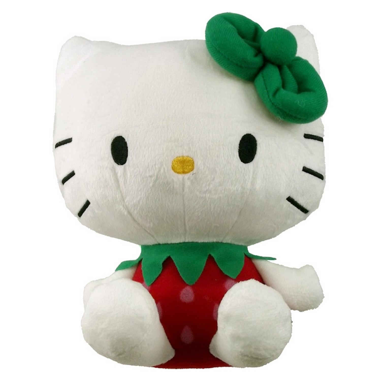 Peluche Hello Kitty - Sanrio - Peluche de 20cm - En Fraise