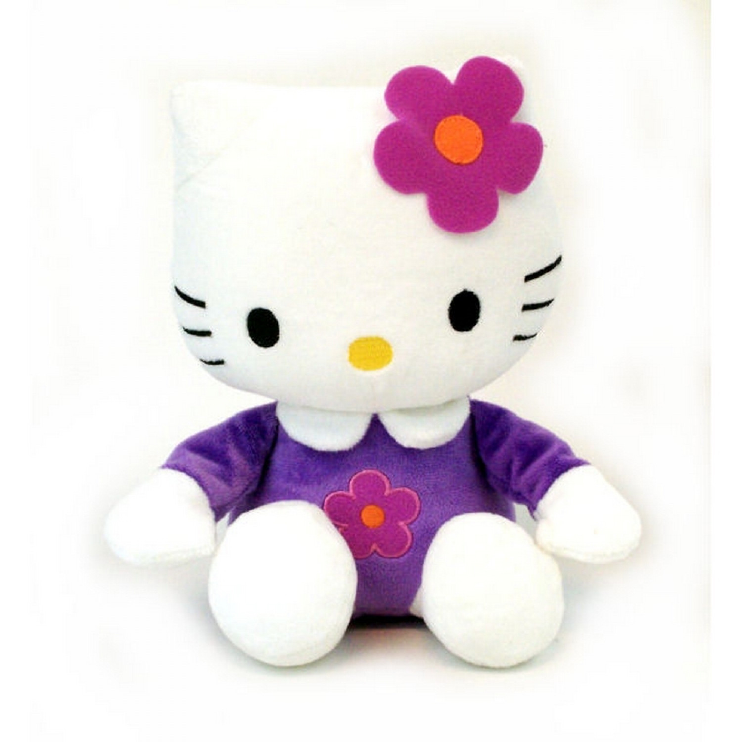 Hello Kitty - Peluche douce Kitty 20cm - Fleur Rose