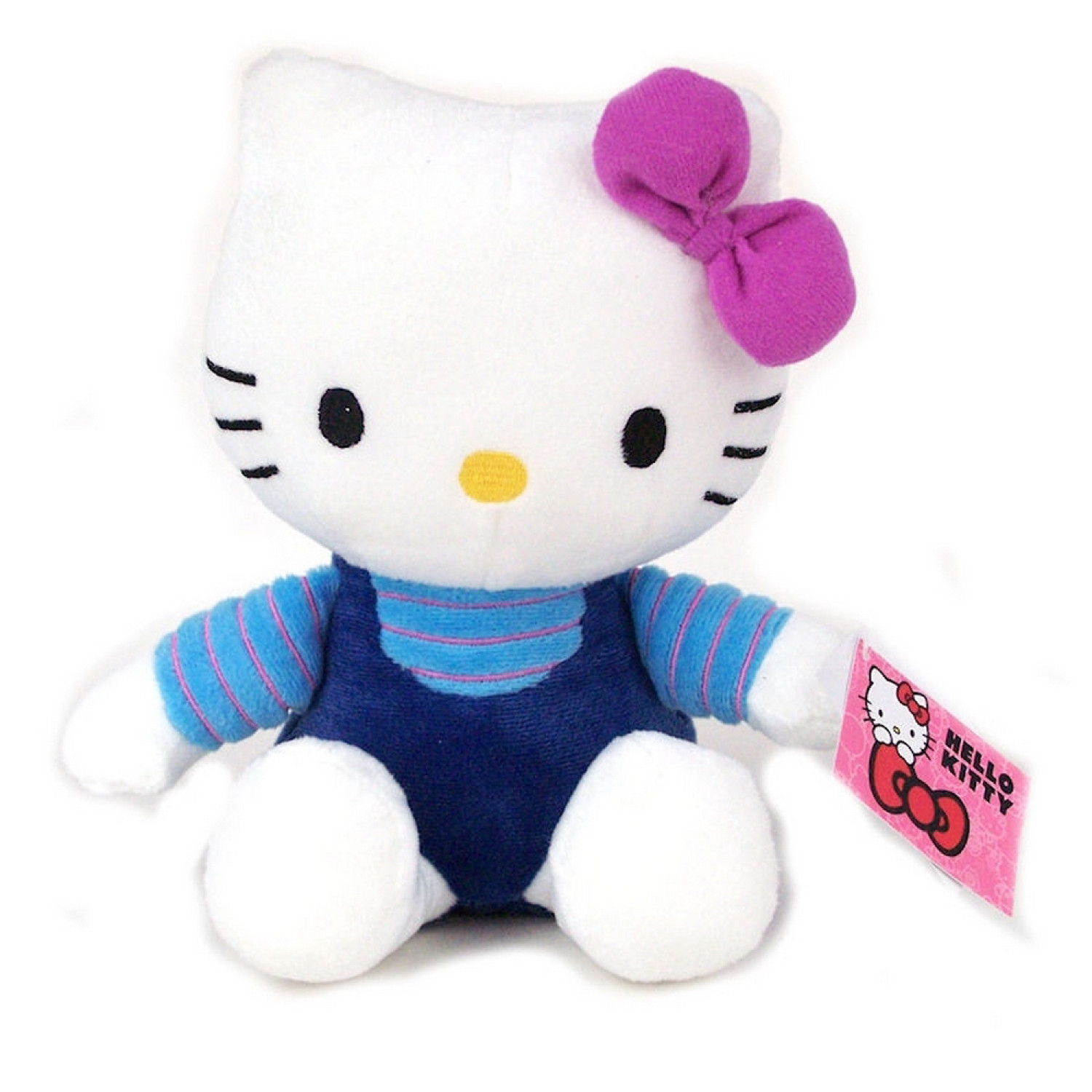 Hello Kitty - Peluche douce Kitty 20cm - Noeud Rose