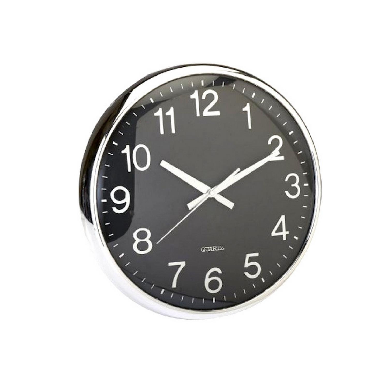 Horloge Murale - Oeil de boeuf - diamètre 36cm - Noir