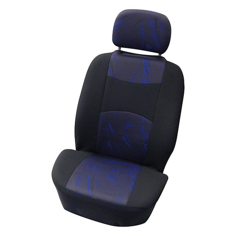 Housse voiture avant - Couvre siège auto - Airbag OK - 4 pièces - Bleu et noir